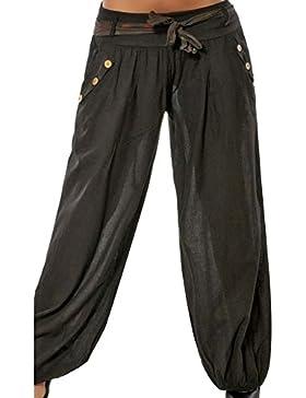 GladiolusA Mujer Pantalones De Yoga Pantalones Harem Pantalón Baggy Pantalones Harem Boho