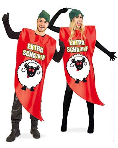 KarnevalsTeufel Kostüm Chili für Erwachsene Ganzkörperkostüm Scharf Karneval Mottoparty