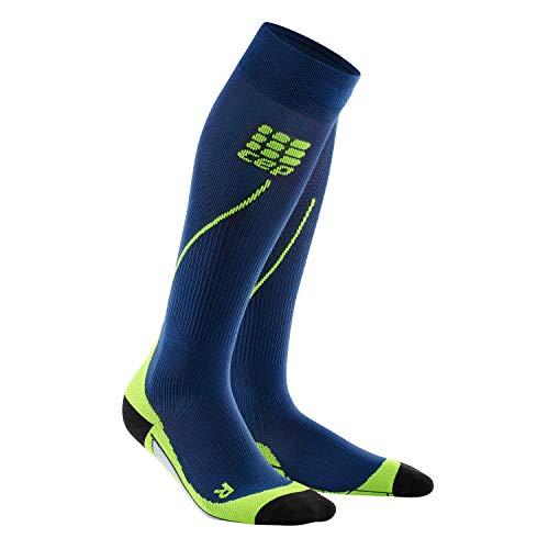 CEP - Run Socks 2.0 | Lange Laufsocken für Damen | blau/grün in Größe IV