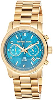 Michael Kors Hunger Stop 100 Watch for Women - Analog Stainless Steel Band - MK5815