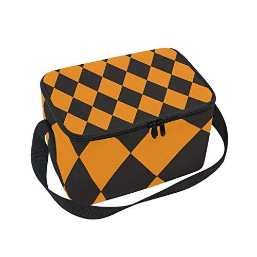 Alinlo Halloween-Kürbis-Lunchtasche, mit Reißverschluss, isolierte Kühltasche, Lunchbox, Mahlzeiten-Vorbereitung, Handtasche für Picknick, Schule, Damen, Herren, Kinder
