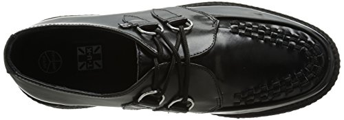 T.U.K. Mondo Sole Round Creeper, Baskets mode mixte adulte Noir (Black)