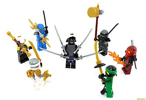 LEGO Ninjago Figuren 7er Set. Der Kampf gegen Garmadon mit Jay - Kai - Cole - Lloyd - Master WU (Ninjago Golden Ninja Lego-sets)