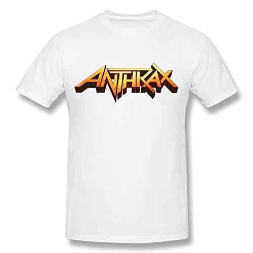 HIPI GOX Men's Anthrax Music Band Logo T Shirt