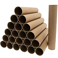 Bright Creations Brown Paper Cardboard Craft Tube Rolls (24-Pack) - 20.3 cm Tall
