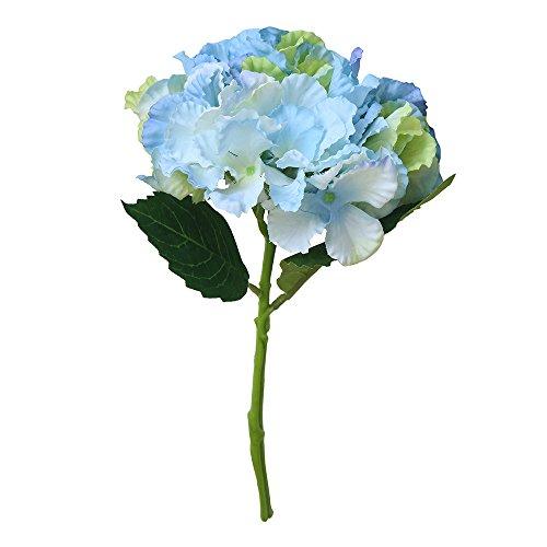 Upxiang Künstliche Seide Gefälschte Blumen Pfingstrose Blumen Hochzeitsstrauß Braut Hortensie Haus Garten Party Decor (Blaues Grün) -