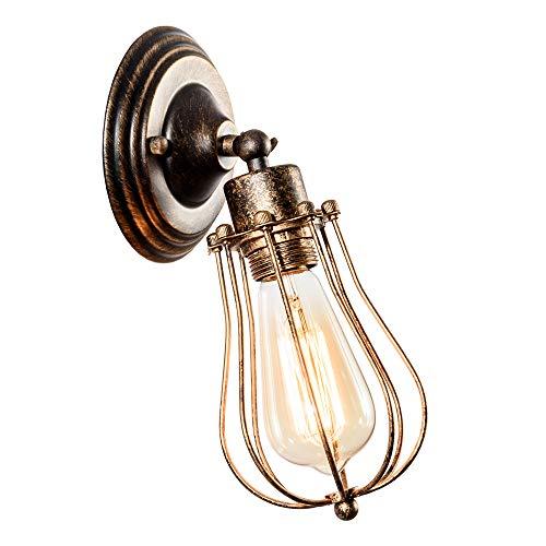 Apliques de pared industrial Lámpara vintage de iluminación ajustable Lámpara de alambre...