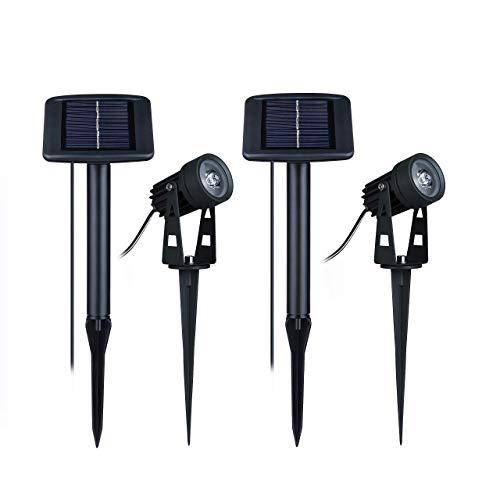 Solarbuy24 Solarstrahler, wasserfest, solarbetrieben, Landschaftsbeleuchtung, hohe Helligkeit, LED, Warmweiß, Solar-Bodenlicht, Außenbereich, Garten, Teich, Rasen, Auffahrt