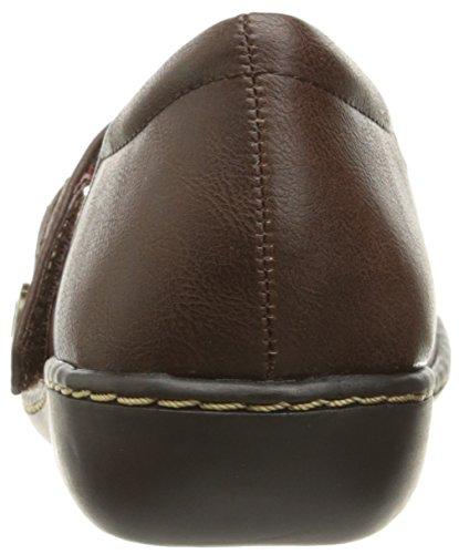 Stile Soft di Hush Puppies Jayne Mary Jane piatto Dark Brown Leather