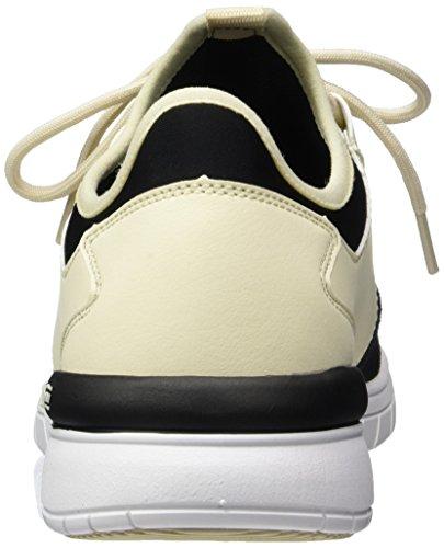 Supra - Flow Run, Pantofole Uomo Weiß (Cream/Black-White)
