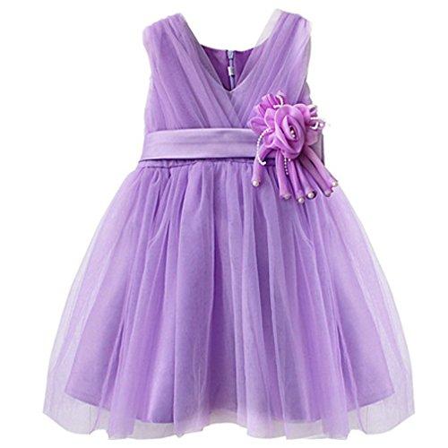 der Kinder Festlich Brautjungfern Kleid Prinzessin Hochzeit Party Kleid (Neue Halloween-kostüme Für Kinder)