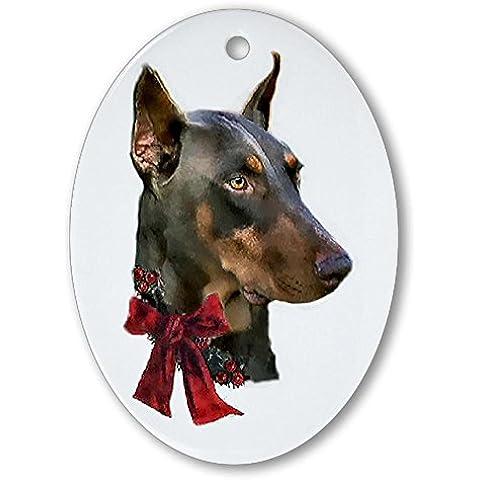 CafePress–Doberman Pinscher Ornament (ovale)–Ovale vacanza decorazione natalizia