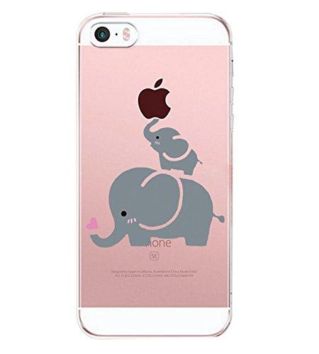 Caler ® Funda Reemplazo para iPhone SE 5S 5 Funda, Suave TPU...