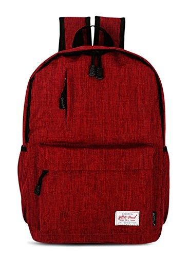 Keshi Leinwand neuer Stil Damen accessories hohe Qualität Einfache Tasche Schultertasche Freizeitrucksack Tasche Rucksäcke Rot