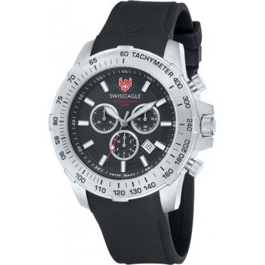 Swiss Eagle SE-9065-01 - Reloj para hombres, correa de silicona color negro