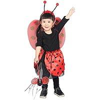 Ja01 Taglia 3-5A (98-110cm) Colorato Coccinella Costume, 4 pezzi si