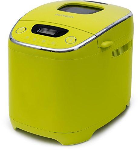 Oursson BM0801JGA Brotbackautomat mit 10 automatische Garprogramme, Krustfarbanpassungsfunktion, 580 W, digitale Anzeige, apfelgrün