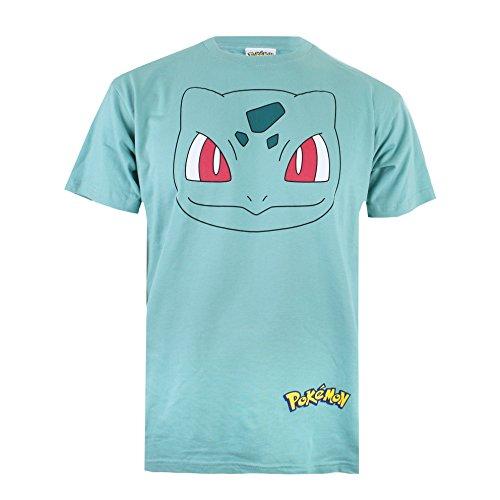 Pokmon-Bulbasaur-Face-Camiseta-para-Hombre