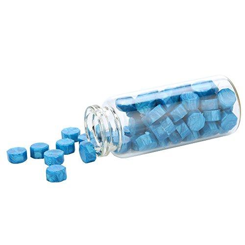 Siegel-Wachs, TIFIY 1 Flasche Retro Vintage Manuskript Seal Seal Wachs Stick Solid Partikel für Stempel (1 Flasche, Blau)
