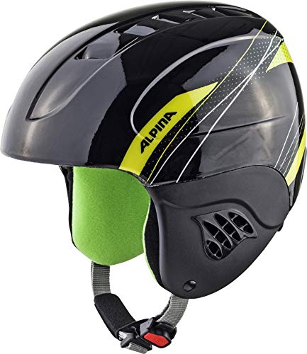 Alpina Kinder Skihelm Carat Black-Green, 48-52 cm