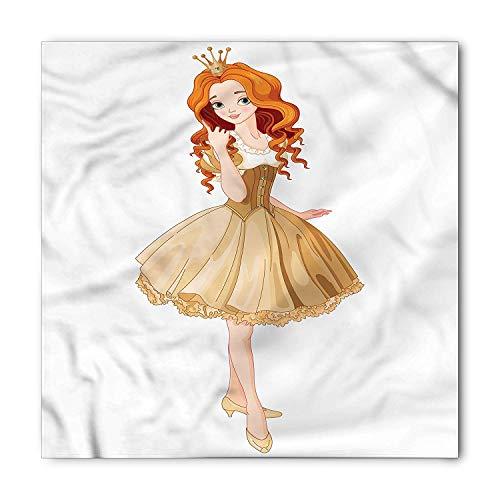 WYICPLO Princess Bandana, Yellow Dress Orange Hair, Unisex Head and Neck Tie,23.6 * 23.6inch (Princess Party-goody Bags)