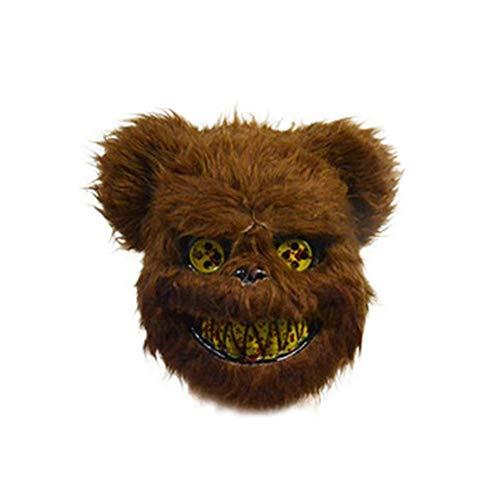 Kostüm Bunny Scary - LINKLANK Halloween Maske, weiß Bunny Kaninchen Und Bär Blutige Maske Creepy Scary Poped Heraus Augen Horrible Gesicht Maske Für Kinder Erwachsene Halloween-Party kostüme Cosplay