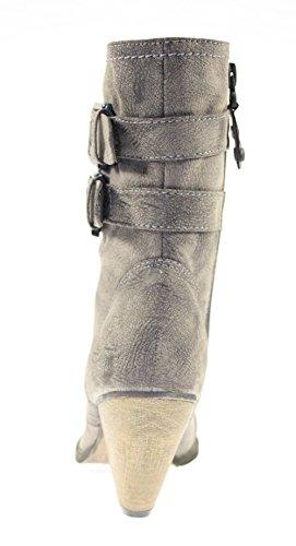 Pantoufles, chaussures pour femme coloris café & ouverture/fermeture éclair Marron - Cafe