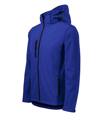 Giacca Softshell con cappuccio per uomo - Altamente resistente all'acqua - OwnDesigner by Adler Abbigliamento sportivo (Blu - taglia: M)