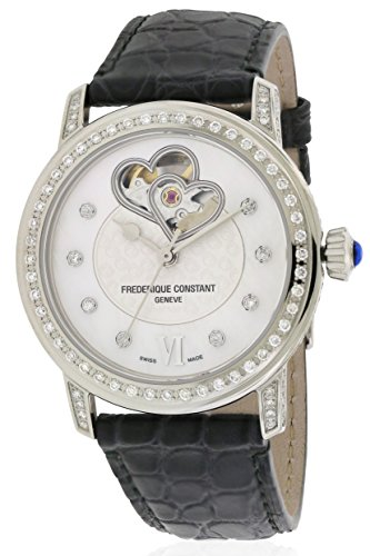 FREDERIQUE Constant Women's 34MM Satin Band Automatic Watch FC-310DHB2PPV6