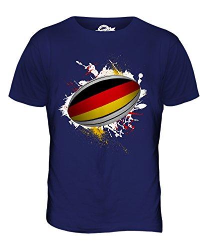 CandyMix Deutschland Rugby Ball Herren T Shirt Navy Blau