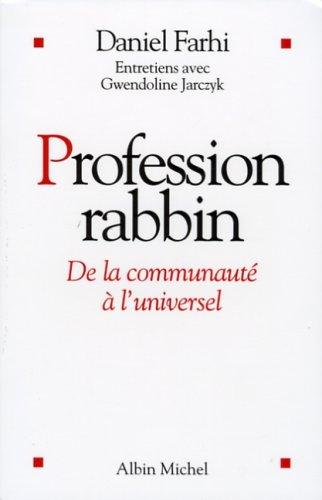 Profession rabbin : De la communauté à l'universel
