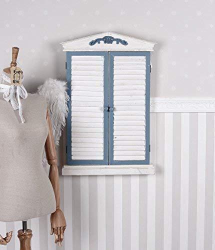 Wandspiegel Shabby Chic Lamellentür Spiegel Vintage Fensterladen Antikstil sod033 Palazzo Exklusiv