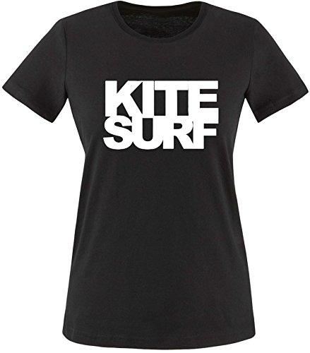 EZYshirt Kitesurf Damen Rundhals T-Shirt