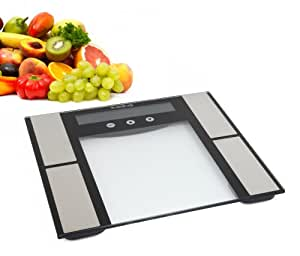 HemingWeigh Ultra Slim Digital Bathroom Scale with Body Fat and Hydration Monitor, and Touch Buttons