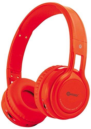 Contixo KB-2600Kopfhörer kindersicher 85dB über das Ohr faltbar kabellos Bluetooth-Kopfhörer mit Lautstärkebeschränkung, integriertes Mikrofon, Micro-SD-Karten-Musik-Player, FM-Stereo-Radio