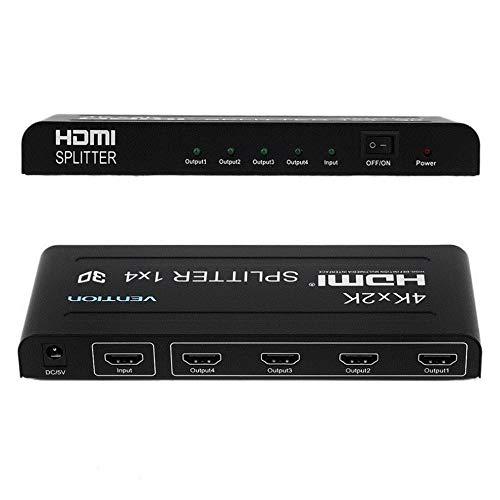 Full HD HDMI Splitter 1X4 4 Port Hub Repeater Verstärker v1.4 3D 1080p 1 In 4 Out (In 1 10 Hdmi-splitter)
