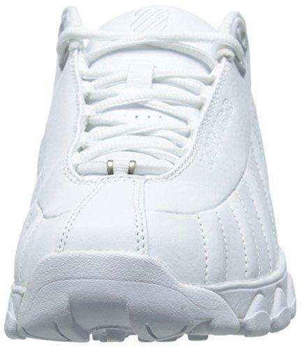 K-Swiss hommes de st329FMC Formation Chaussures blanc/argenté