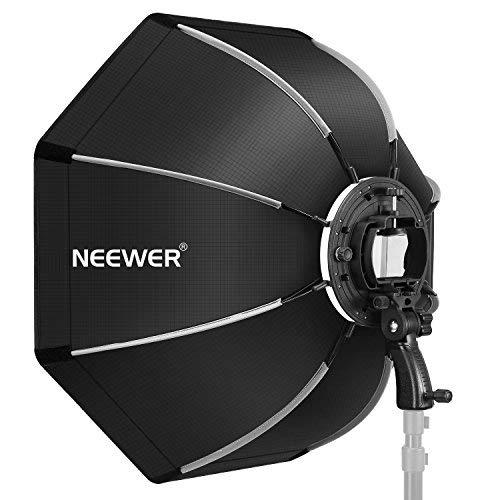 Neewer Achteckige Softbox (65 cm) mit S-Art Klammerhalterung, Tragetasche für Canon Nikon TT560 NW561 NW562 NW565 NW620 NW630 NW680 NW670...