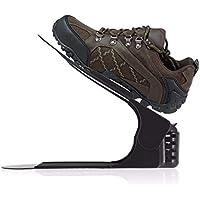 Shuzhen,Soporte de plástico, suspensión, Zapatos, estantes, fácil Uso, Soporte de Calidad(Color:Negro)