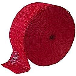 Räuchernetz 150/48 - 10M ROT - Fleisch netz | Fleischnetz | Lachsschinken Netze | Rollbraten Netz | Metzgereiausstattung Netz | Elastische Netz | Schinkennetz