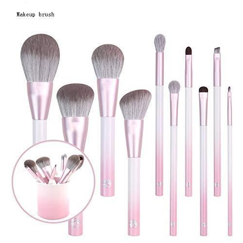ZYFF huazhuangshua Set de Pinceaux À Maquillage 10 Pièces Kit De Pinceaux À Maquillage Coloré avec Étui pour Pinceaux À Maquillage