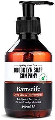 Baardshampoo, baardzeep, Baardwas 200 ml, Baardreiniging en -verzorging - natuurlijke cosmetica van BROOKLYN S