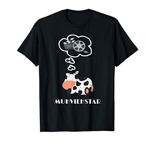 Kostüm Shirt Kuh T - Muhviehstar T-Shirt Damen Für Landwirt Im Einsatz Kuh Kostüm T-Shirt