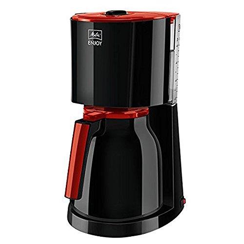 Melitta Enjoy Therm 1017-10, Filterkaffeemaschine mit Thermkanne, AromaSelector, Rot/Schwarz