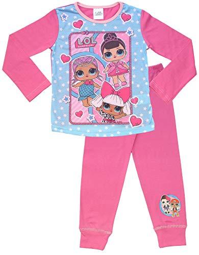 L.O.L. Surprise ! Dolls Pyjama für Mädchen aus Weicher Baumwolle PJs Pyjama Konfetti Pop Pjs Lil Sisters Pyjama-Set (7/8 Jahre, Rosa) - Baumwolle Pj Set