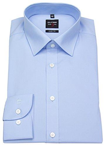 OLYMP Level Five body fit Hemd Langarm New Kent Stretch hellblau Größe 46