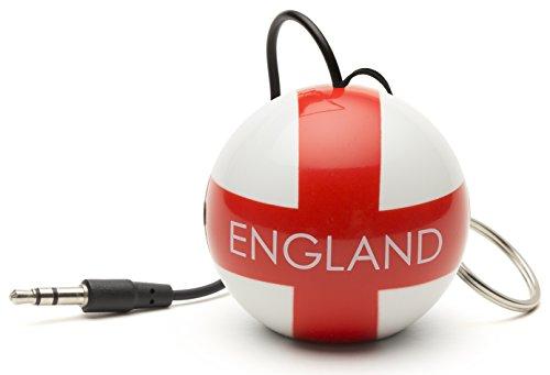 KitSound Mini Buddy Universal Lautsprecher (3,5 mm Klinkenstecker, geeignet für Smartphones/Tablets/MP3/iPhone/iPad/iPod/Samsung Galaxy/Xperia/HTC One/One M8/Google Nexus) England Fussball