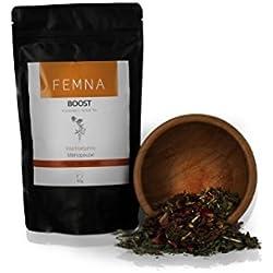 Boost Kräutertee für die Wechseljahre - Unterstützung der Lebensfreude & Kraft in der Menopause - Revitalisierend, harmonisierend & kräftigend | FEMNA - die natürliche Alternative für Frauen 50 g