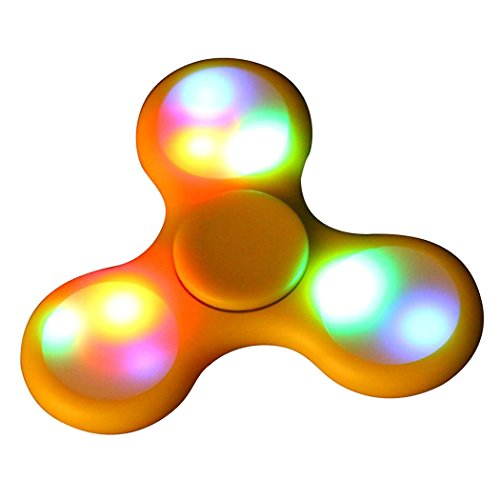 Hand Spinner Fuibo LED Light Fidget Hand Spinner Torqbar Finger Toy EDC Focus Gyro Fast Shipping (Yellow)