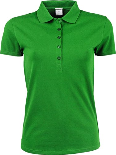 Ladies Luxury Stretch Polo Spring Green